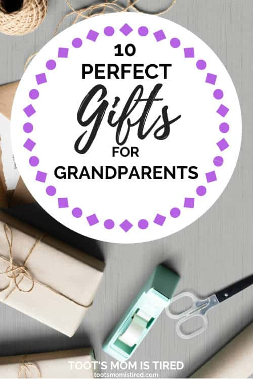 10 Perfect Gifts for Grandparents | Grab these awesome gifts for Grandma and Grandpa, gifts from babies, what to give your parents from your kids, gift ideas for new grandparents for christmas, holidays, birthday, or grandparents day. #giftideas #grandparents #christmas2018 #holidays2018