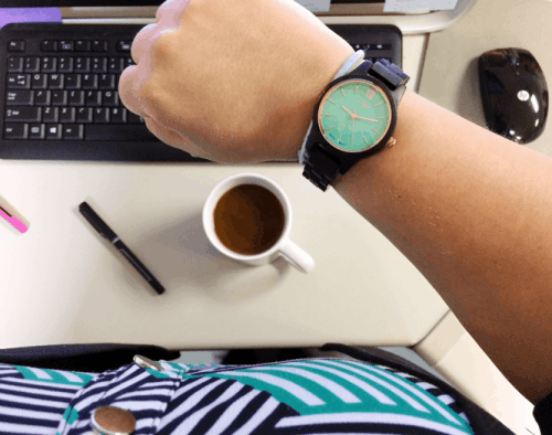 Pretty watch in the workplace