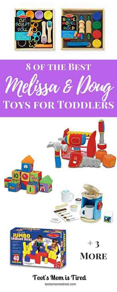 8 of the Best Melissa and Doug Toys for Toddlers | Melissa & Doug toys for Christmas, gift ideas for toddlers, must have toys