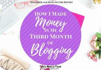 How I made money in my third month of blogging | November 2016 blog income report