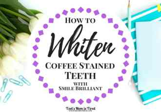 How to Whiten Coffee Stained Teeth with Smile Brlliant