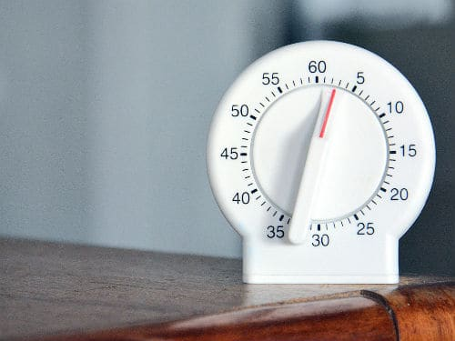 kitchen timer, 30 minutes or less