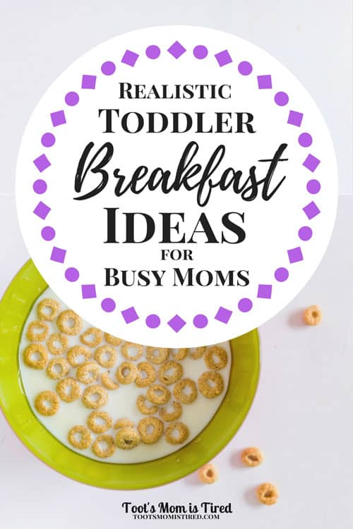 Realistic Toddler Breakfast Ideas for Busy Moms | Toddler breakfast meals that are fast and easy to make!