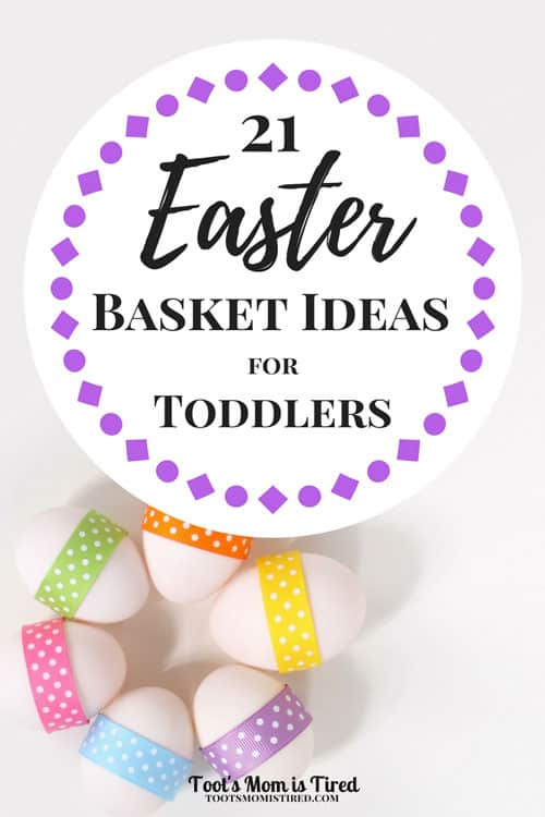 21 Easter Basket Ideas for Toddlers | What to put in a toddler's Easter basket, one year old, two year old, three year old, Easter basket ideas not candy or chocolate, melissa and doug