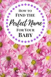 How to Find the Perfect Name for Your Baby