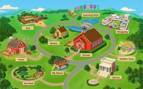 abcmouse.com map