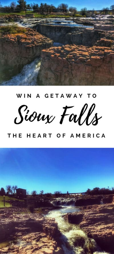 Win a Getaway to Sioux Falls, South Dakota | The heart of America, USA, Great places to visit in the midwest, midwest travel destinations, contest, giveaway, enter to win, win a vacation, family vacation destination in the midwest, weekend trip