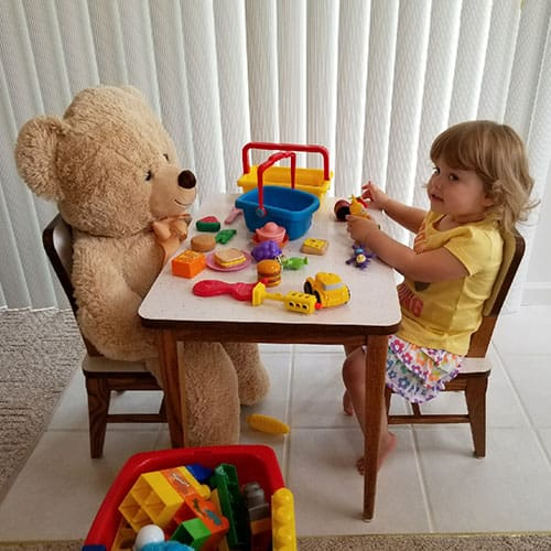 tea party with a bear