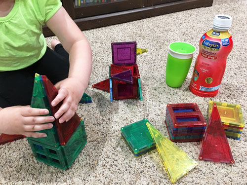 Playing with shape toys