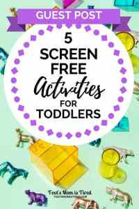 5 Screen-Free Activities for Toddlers | activities for one year olds, two year olds, three year olds, 18 month old, outside, road trip, no screens, family fun, #familyfun #toddleractivities #toddlers #parenting #momhacks