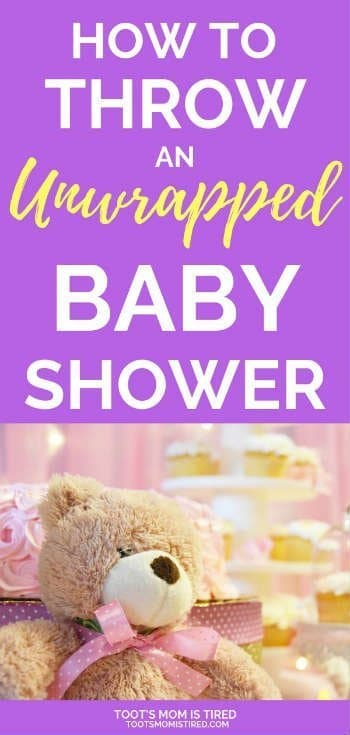 How to Throw an Unwrapped Baby Shower | Display Baby Shower, non traditional baby shower ideas, baby shower gifts are not wrapped and put on display, baby shower without games, no games at a baby shower ideas #babyshower #babyshowerideas #pregnancy