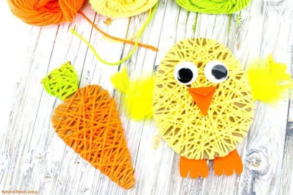 Adorable Easter Yarn Crafts for Kids