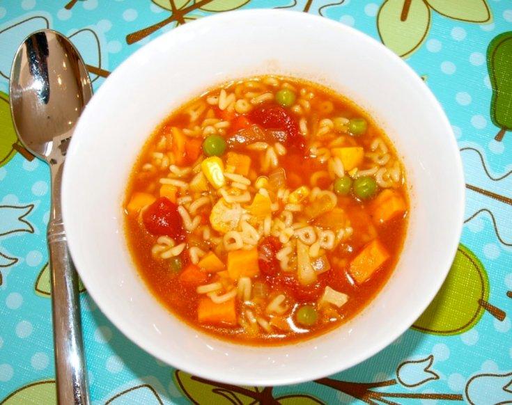 Toddler Eats: Alphabet Vegetable Soup