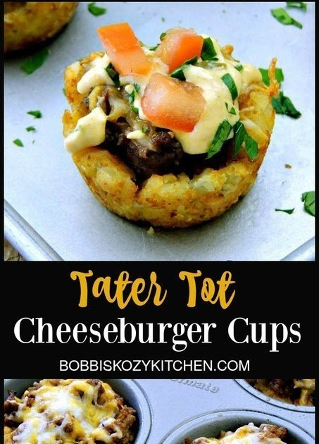 Tater Tot Cheeseburger Cups