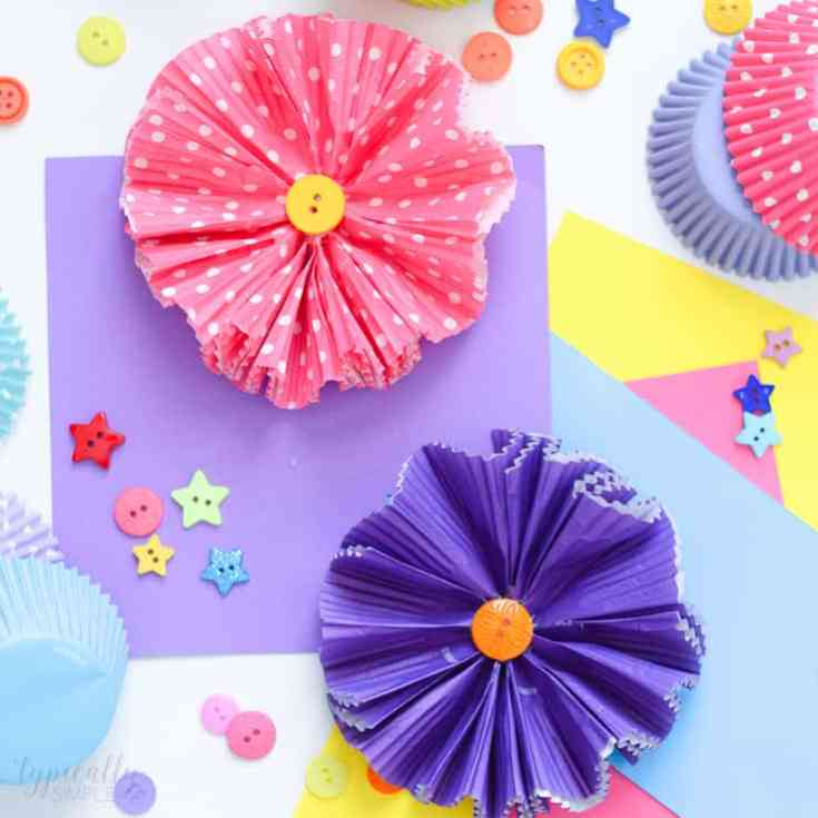 Cupcake Liners Flower Craft