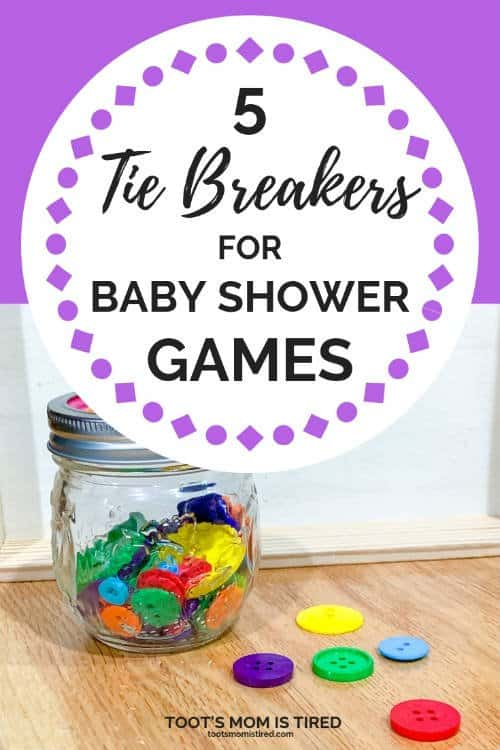 5 tie breakers for baby shower games