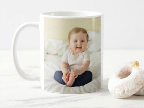 I love Grandma custom kids photo mug