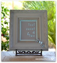 Ideas for Reusing Old Picture Frames - Toot Sweet 4 Two