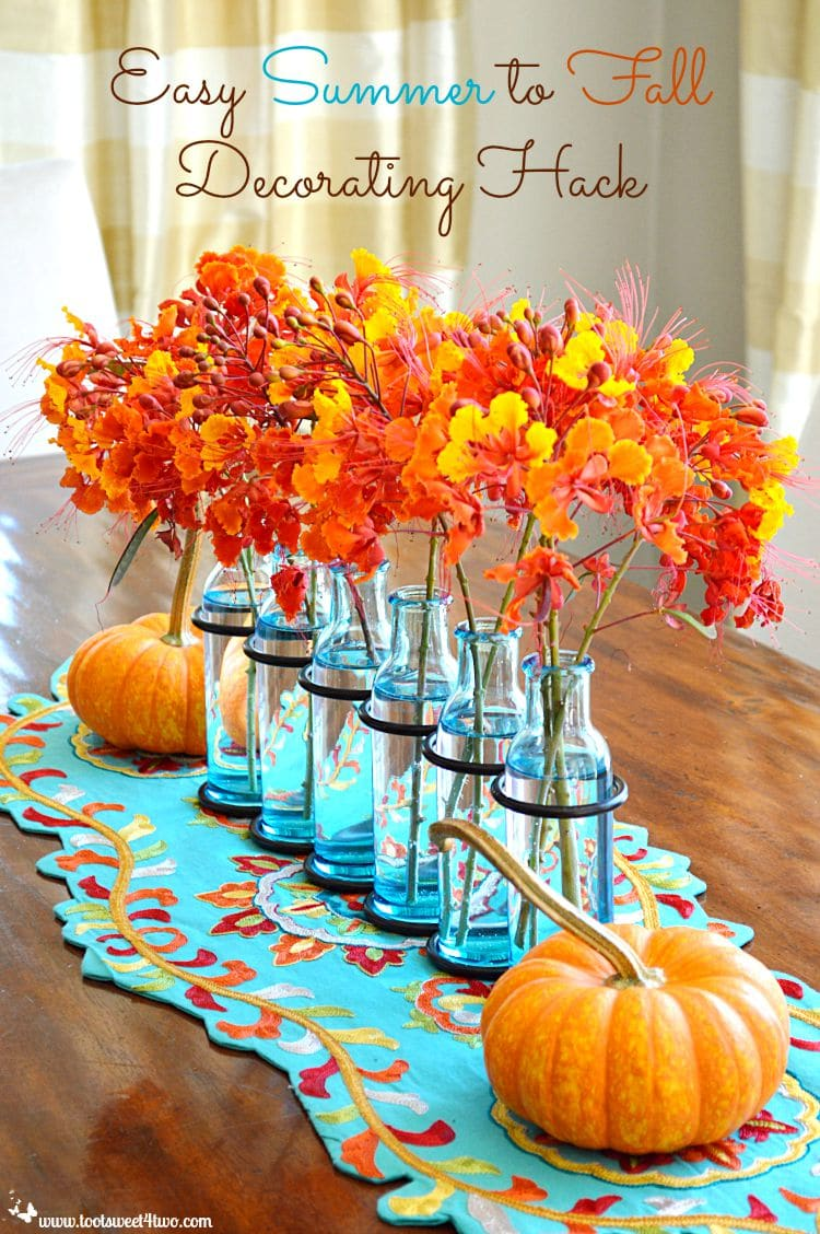 Turquoise and Orange: Summer to Fall Decorating Hack