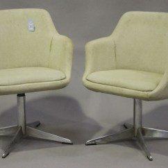 Revolving Chair Other Name Wicker Swivel Patio A Pair Of Mid 20th Century Eames Style Chairs