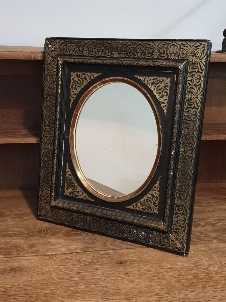miroir ovale napoleon 3 stuc moulures
