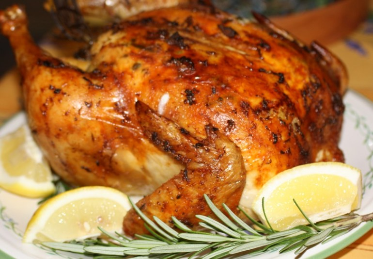 Lemon, Rosemary and Garlic Roasted Chicken