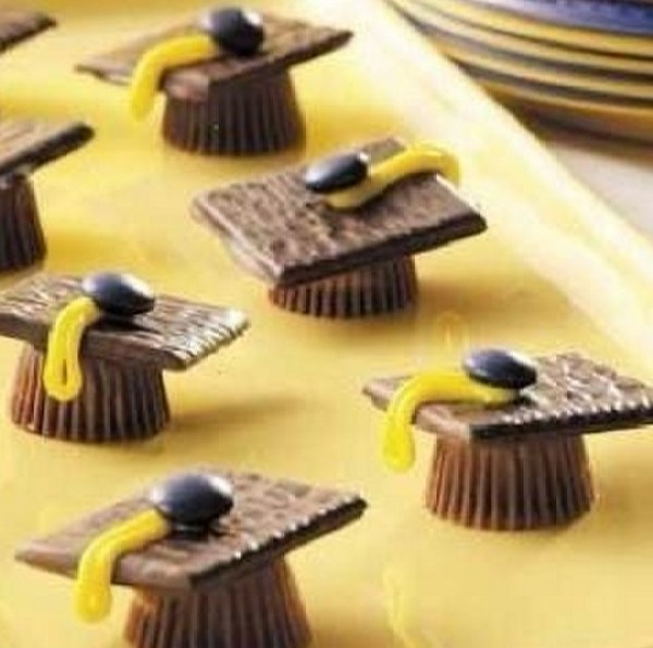 Reese's peanut butter cups, after eight mints Graduation Hats
