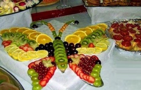 Fruit Tray Platter That Look Like a Butterfly
