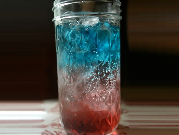 Red, White, and Blue Non-alcoholic Layered Drink