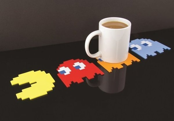 Pac-Man Drink Coasters