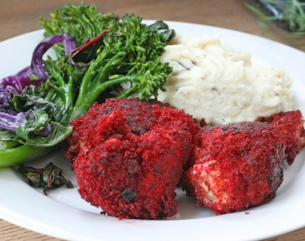 Red Velvet Fried Chicken
