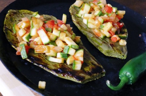 Grilled Cactus Paddles Huaraches