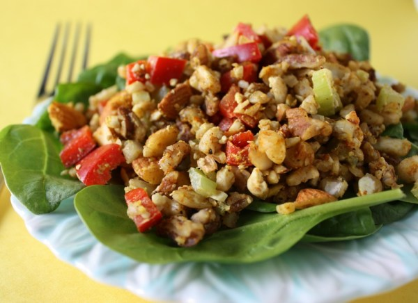 Raw Curry Nut Salad