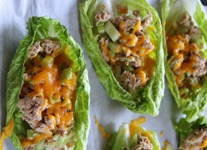 Tuna Melt Lettuce Leaf Boats