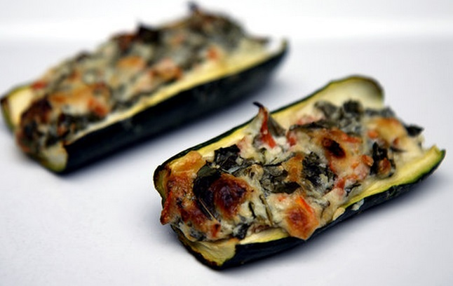 Low-Carb Creamy Zucchini Boats