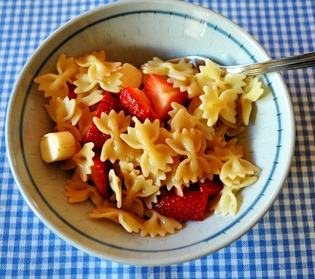Savory Strawberry Farfalle