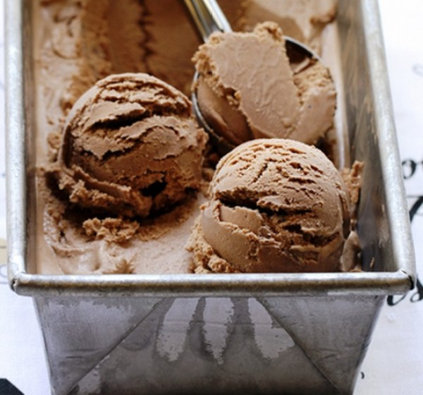 Homemade Milk Chocolate Ice Cream