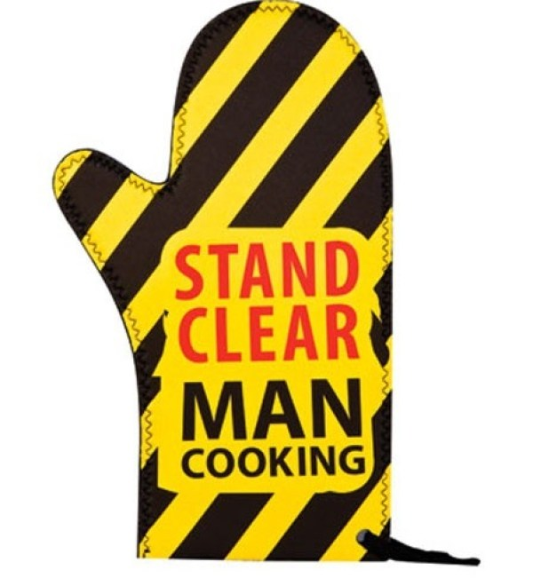 Stand Clear Man Cooking Oven Mitt