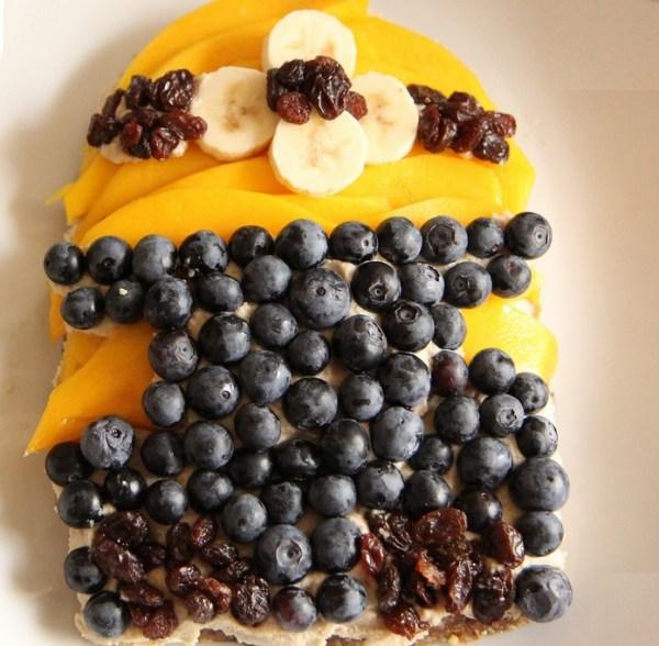 Minion Mango Blueberry Tart