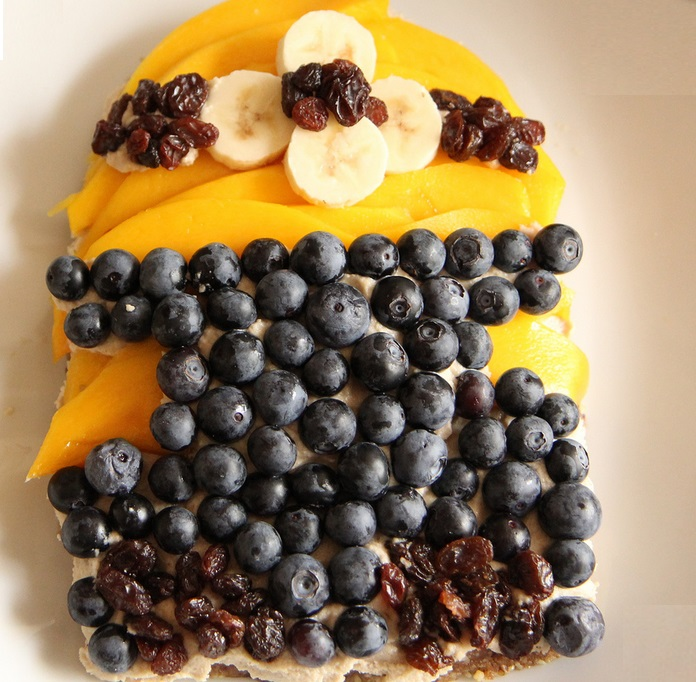 Minion Mango Blueberry Tart