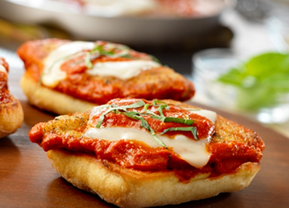 Chicken Parmesan Sandwiches with Creamy Vodka Sauce