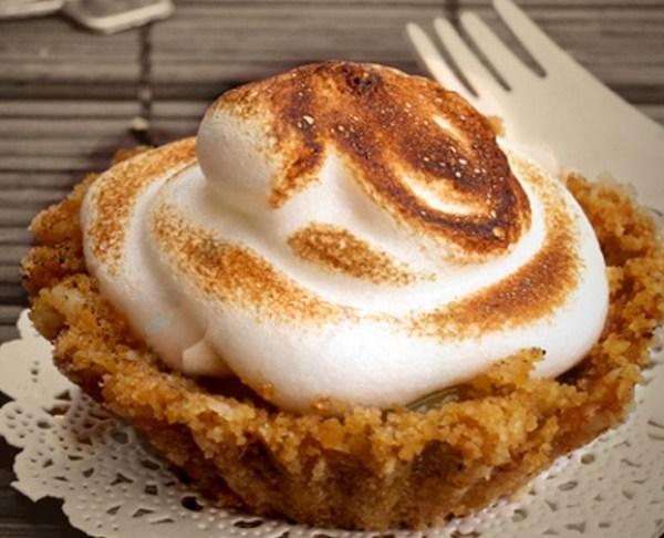 Digestive Biscuit Passionfruit Meringue Tarts