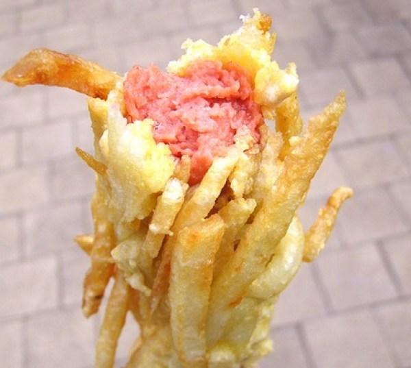 French Fry Coated Hot Dog