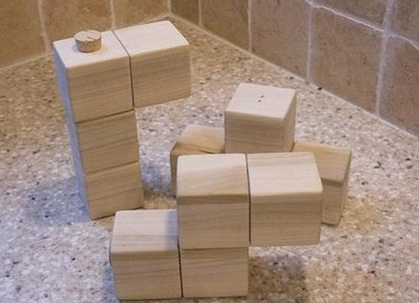 Tetris Salt and Pepper Shaker