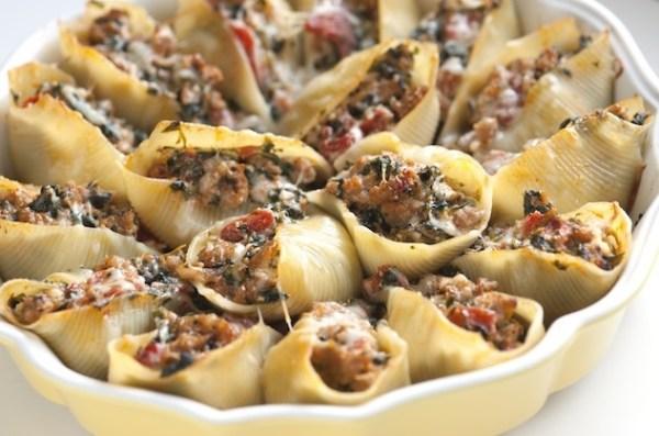 Sausage Stuffed Pasta Shells