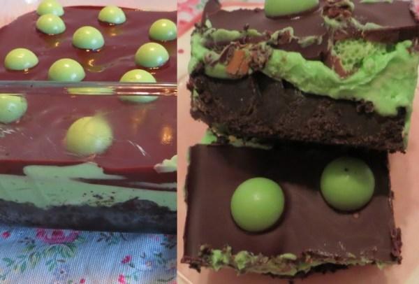 No-Bake Chocolate Peppermint Slice Tray