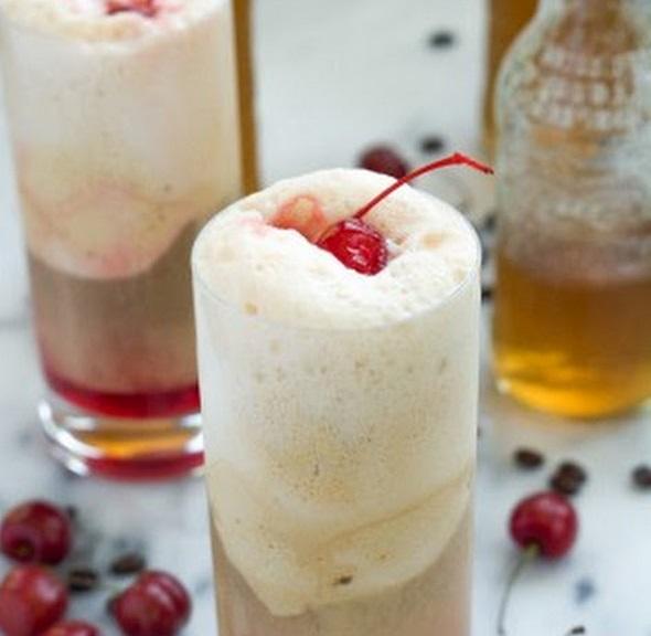 Cherry Vanilla Ice Cream Floats