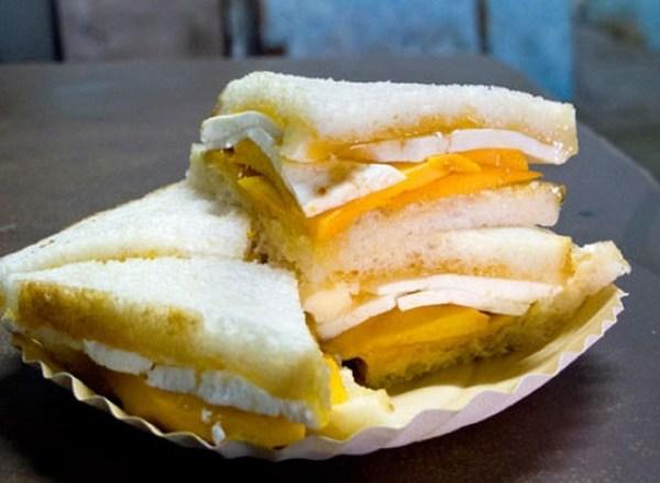 Mango and Chicken Sandwich