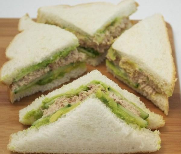 Tuna, Cucumber & Avocado Sandwich