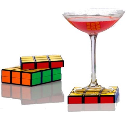 Rubik's Cube Drink Coasters